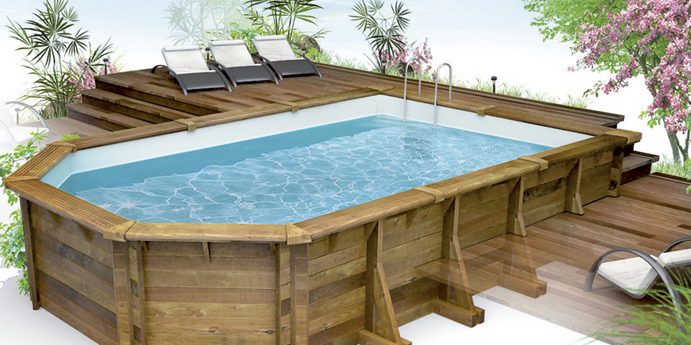 Piscine en bois semi enterre leroy merlin stunning leroy for Piscine semi enterre