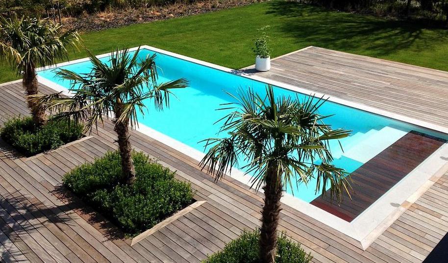 piscine avec du bois