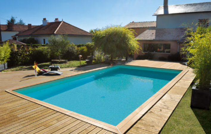 Piscine bois rectangle for Piscine bois semi enterree rectangulaire