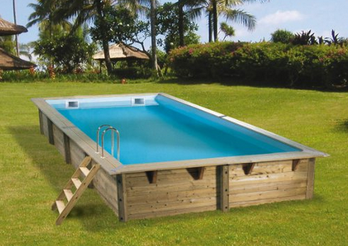 Piscine hors sol en bois mon comparatif for Mini piscine rectangulaire