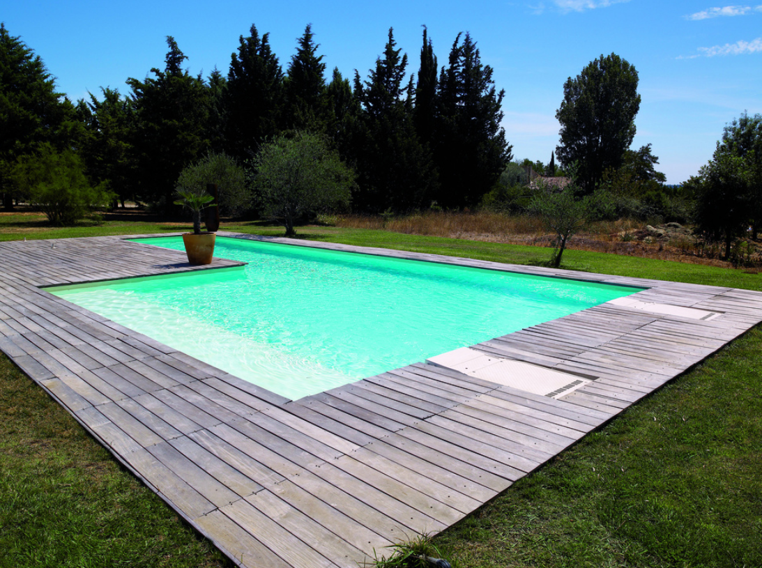 Piscine en bois rectangulaire for Piscine en bois