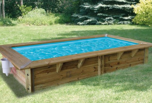 Piscine hors sol en bois mon comparatif for Piscine jardin rectangle