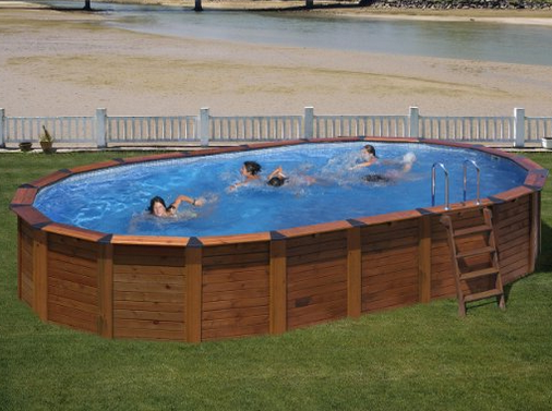 Piscine hors sol en bois mon comparatif for Piscine jilong ovale