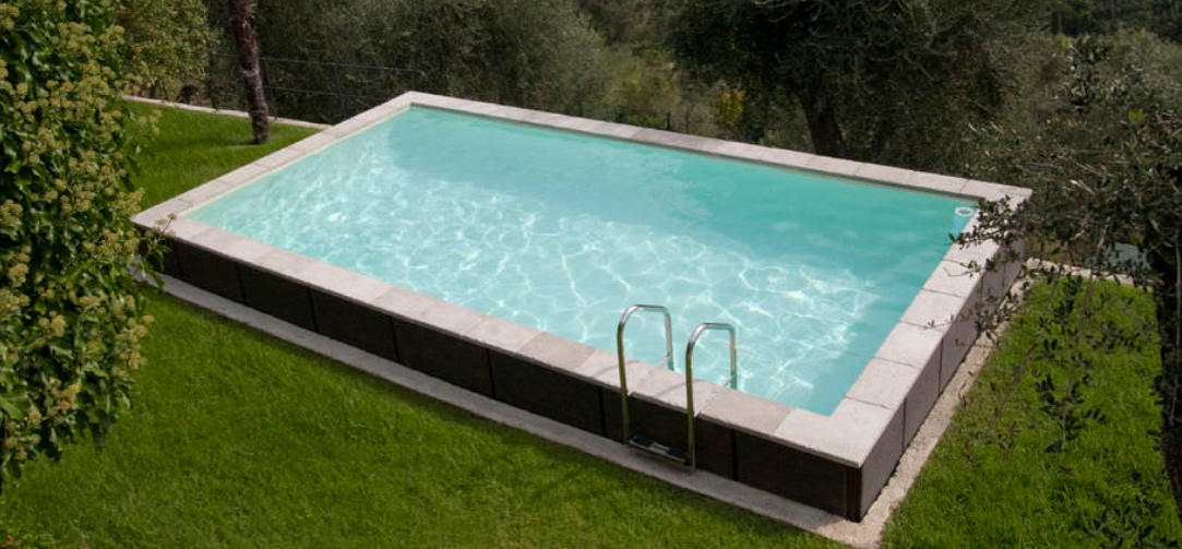 Le tas d 39 id e de piscine semi enterr e for Kit piscine beton semi enterree
