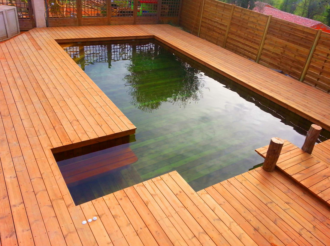 Les piscines en bois en photo for Piscine en bois occasion