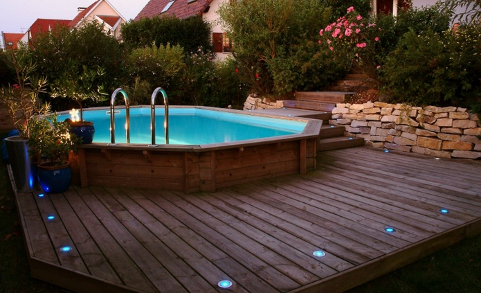 Piscine hors sol semi enterree meilleures images d for Piscine 3x5