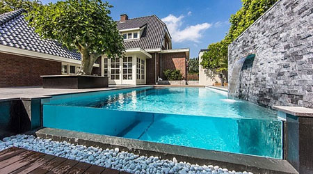 piscine semi enterrée 1
