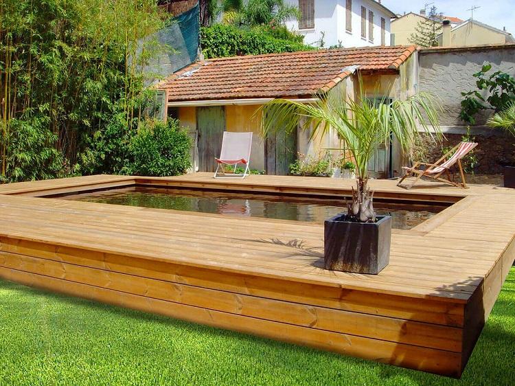 construire piscine semi enterrée